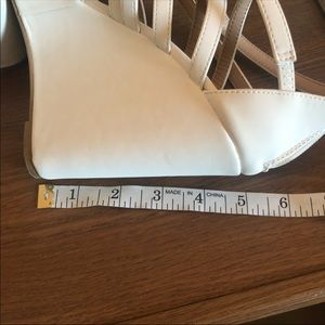 Charlotte Russe White High Wedge Sandals